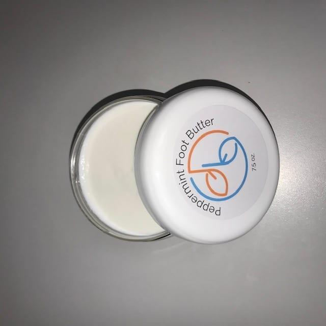 2 oz  mini jar of Peppermint Foot Butter - new label, BULK